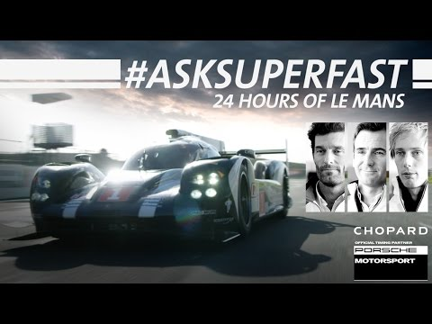 One-Minute interview at le Mans with Mark Webber, Brendon Hartley and Romain Dumas
