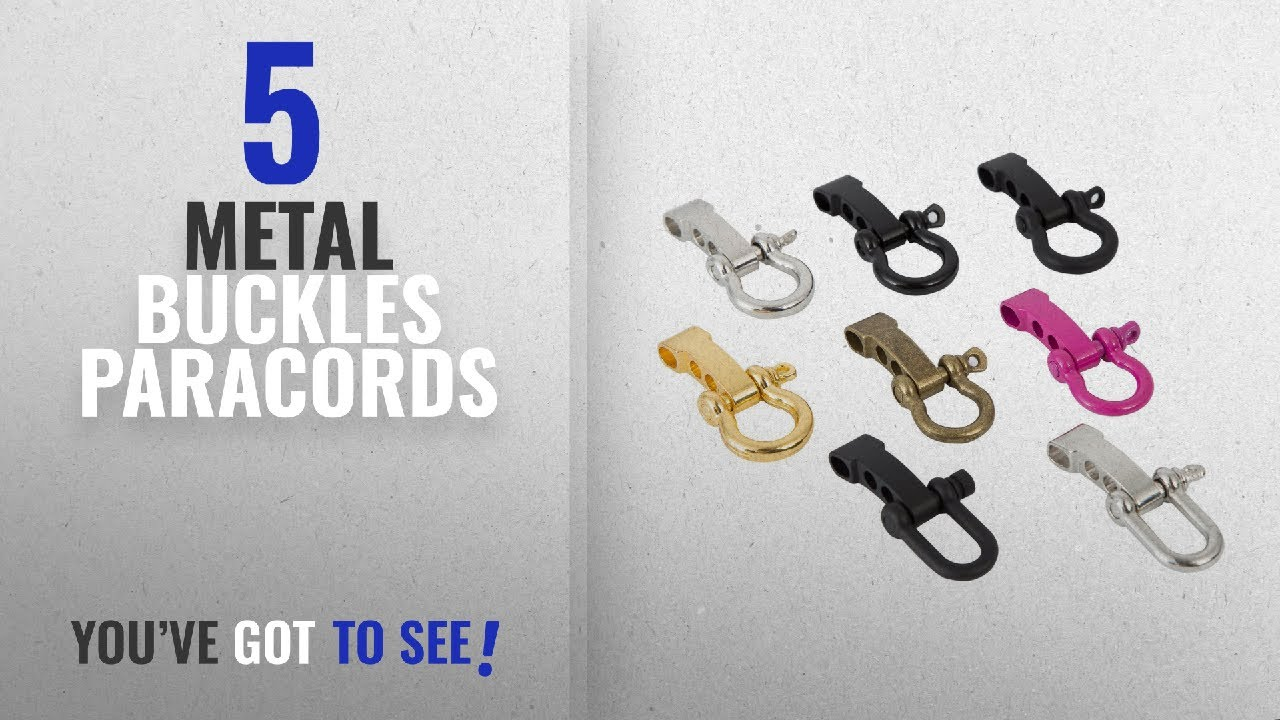 Top 5 Metal Buckles Paracords [2018]: EDC 1991 Alloy Paracord Buckles,  Adjustable D Shackles and