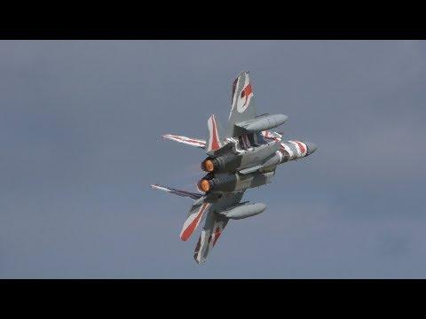 【超絶捻り!!!】2018 小松基地航空祭 アグレッサー 飛行教導群 機動飛行 & 大編隊飛行 F-15 EAGLE / JASDF KOMATSU AIR SHOW 20180917