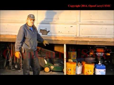 Garage door repair, uneven floor