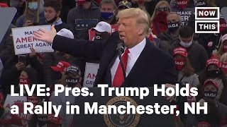 President Trump Holds Rally in Manchester, New Hampshire | LIVE | NowThis