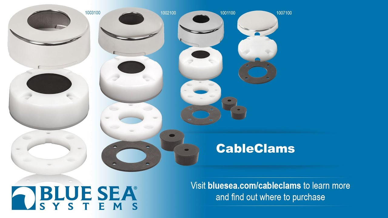 Blue Sea Systems Cable Clams - YouTube