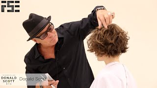 How To - Bob Haircut with a Razor on Curly Hair Featuring Donald Scott NYC