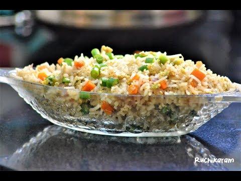 രുചിയൂറും എഗ്ഗ് ഫ്രൈഡ് റൈസ് | Egg Fried Rice | Kids Lunch Box Menu| Recipe 64