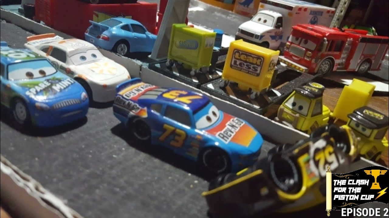 the clash for the piston cup episode 2 a rookie s effort for an old timer s triumph
