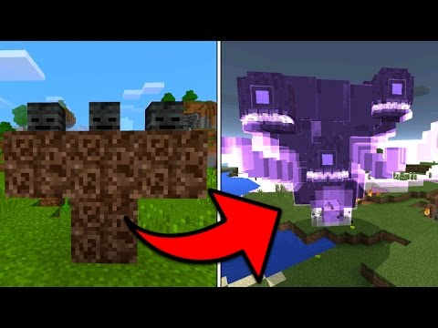 How To Spawn the Wither Storm in Minecraft Pocket Edition (Wither Storm Addon)