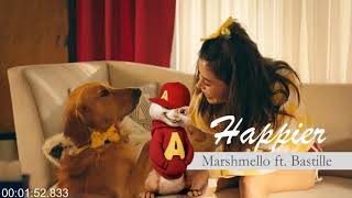 Happier (LYRICS) - Marshmello ft. Bastille (CHIPMUNK)