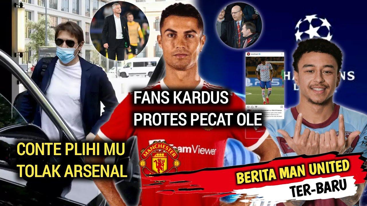 Kabar Baik❗Conte pilih MU tolak Arsenal🔴Ferdinand Tidak Suka Cara CR7🔴Tiru Gaya Ronaldo Lingard Maaf