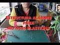 ✴️ Cómo hacer estructura alambre para muñecos Plastilina ✴️