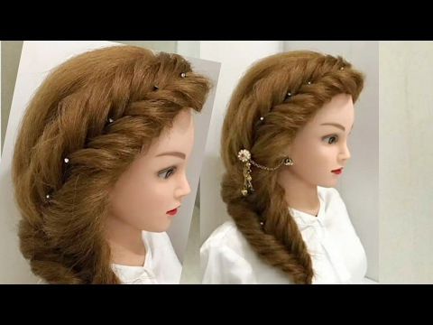 hair side styles most easy and beautiful side braid hairstyle 5339 | hqdefault