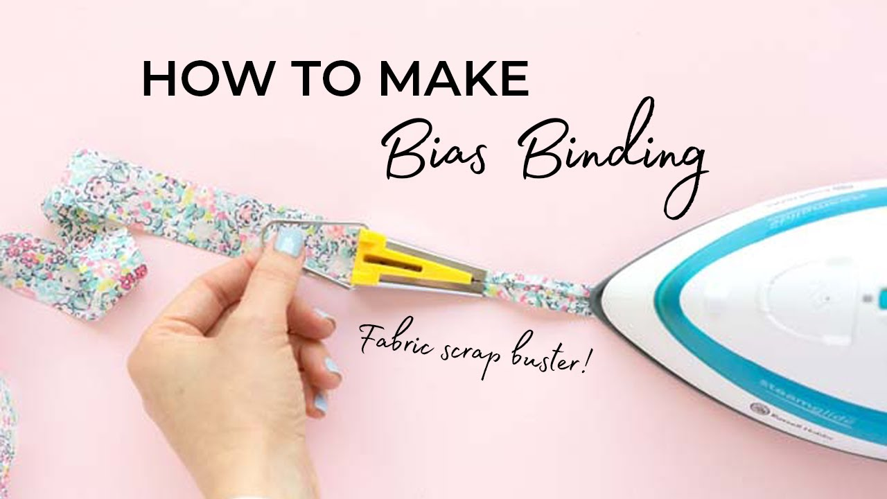 HOW TO MAKE BIAS BINDING (with & without a bias binding maker)