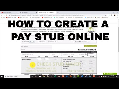 How To Make A Pay Check Stub Online For Your Employee Using Check Stub Maker
