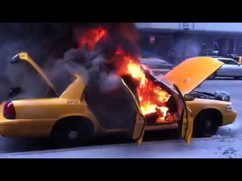 NYC TAXI ON FIRE