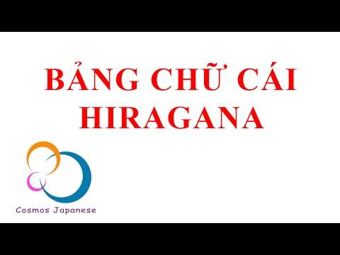 Tiếng Nhật cho người mới bắt đầu - Bảng chữ cái Hiragana