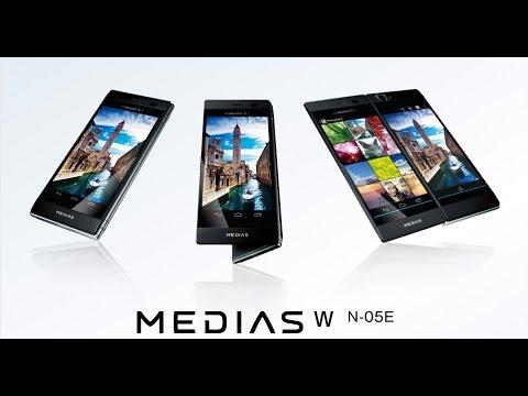 DoCoMo NEC Casio MEDIAS W N-05E dual sceen (review in English) by japanese-phones.com.ua