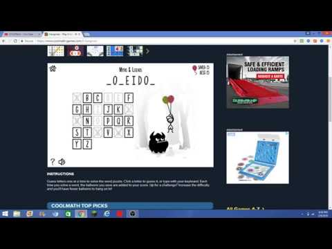 Hangman Coolmath Youtube