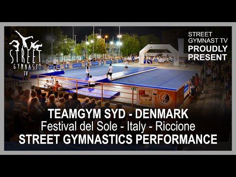 Teamgym Syd and Eskilstrup GF Junior Team visited Festival del Sole, Street Gymnastics