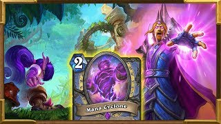 Hearthstone: Quest Mage Mana Cyclone Crazy Wild Deck Part 1 | Rise of Shadows New Decks