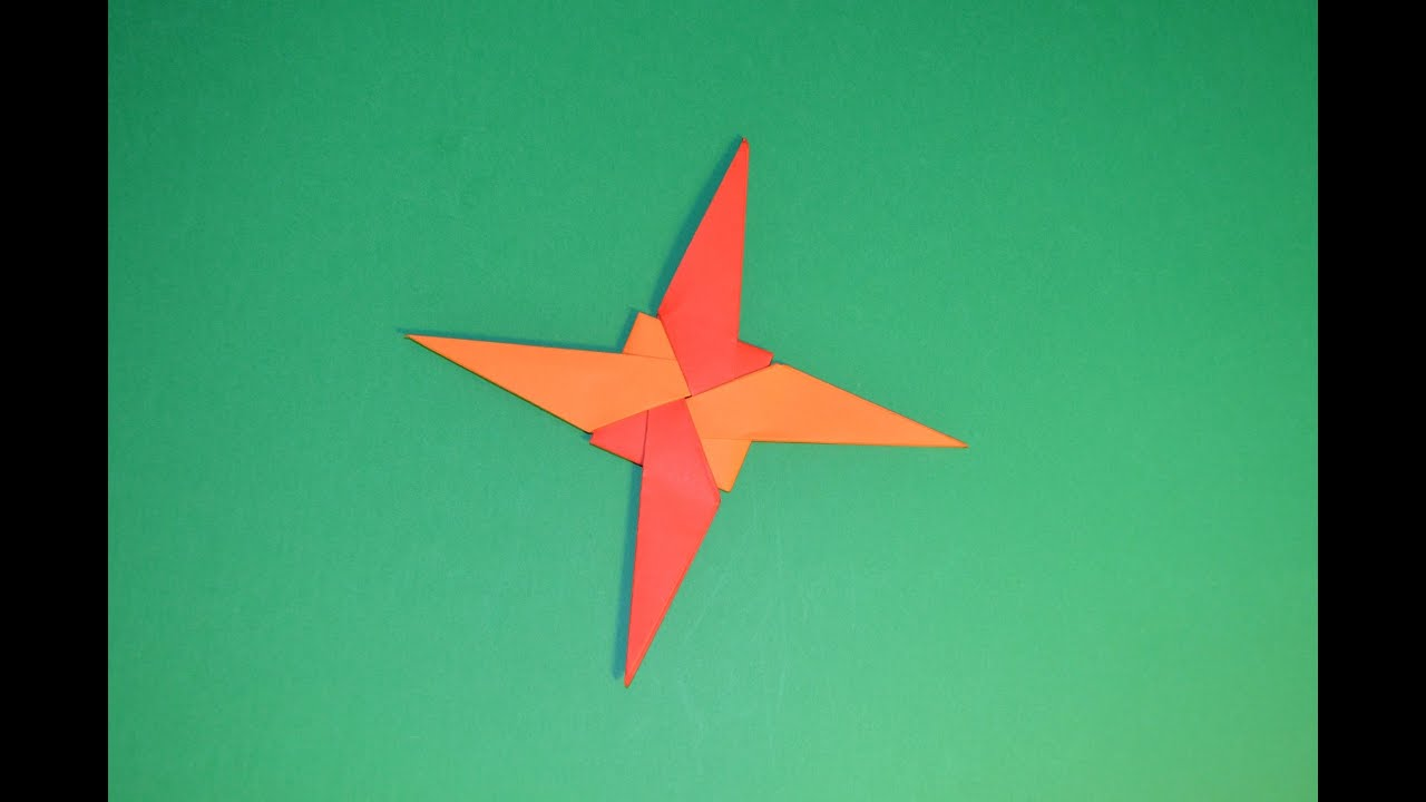 ninja star paper How to make a paper ninja star (shuriken) - origami | remake - easy 5 minute crafts to do when your bored.