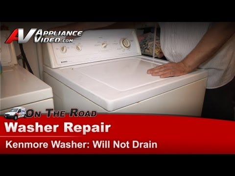 washing machine does not spin or drain