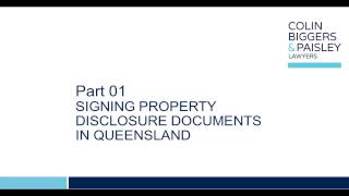 CBP Exchange - How to sign a contract for the sale and purchase of land in Queensland