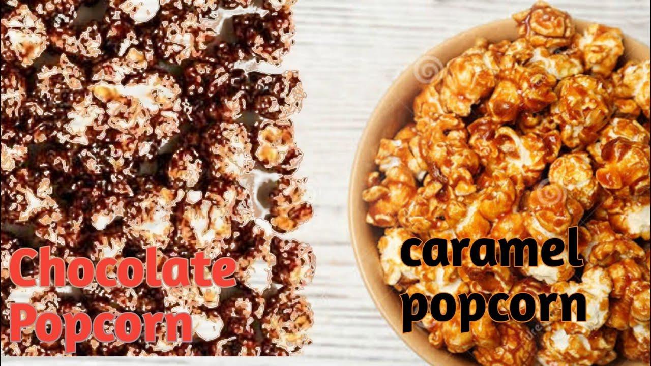 Caramel popcorn&Chocolate popcorn | recipe in malayalam ...