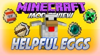 HELPFUL EGGS MOD MINECRAFT 1.7.10 | El mod de los huevos trolls xD