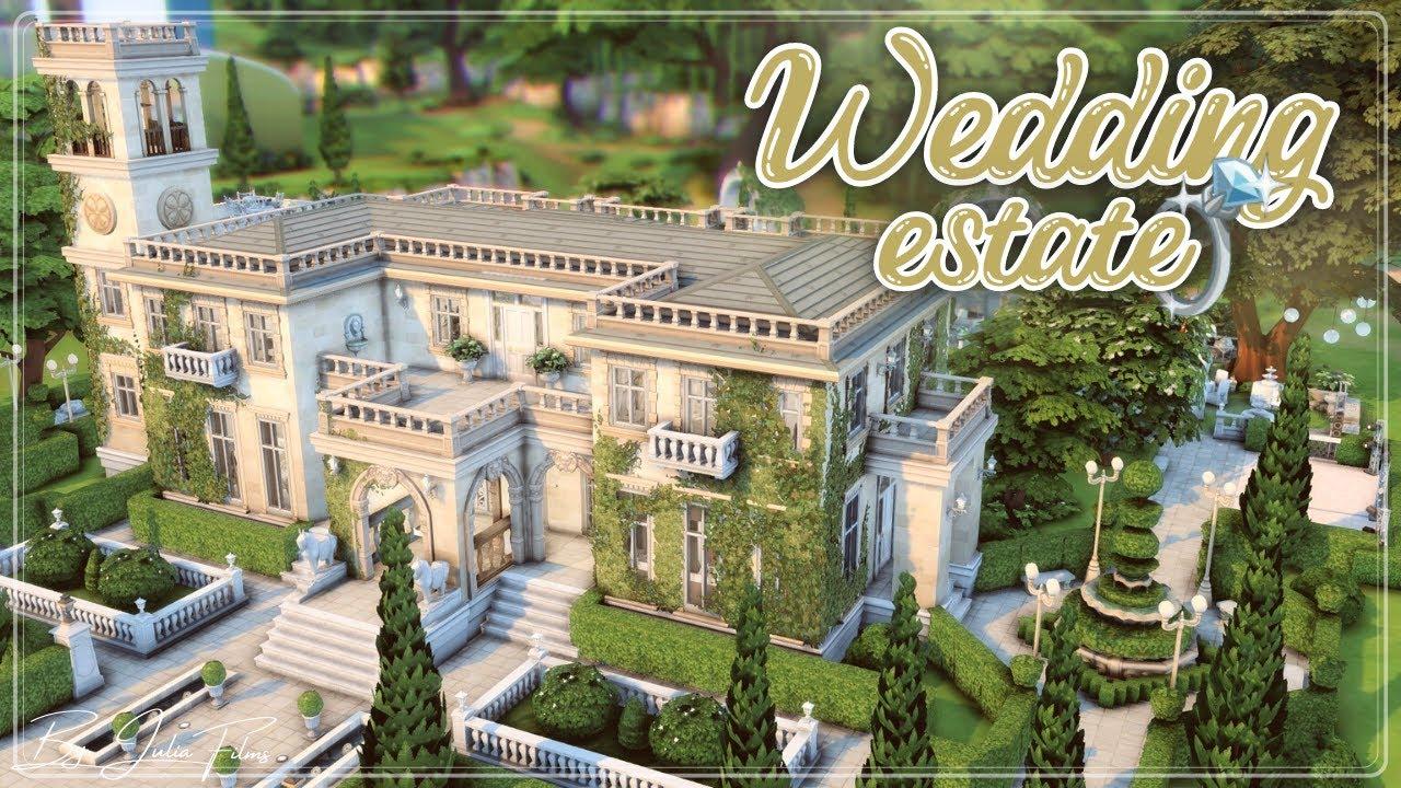 Свадебное поместье💍👰🤵│Строительство│Wedding estate│SpeedBuild│NO CC [The Sims 4]