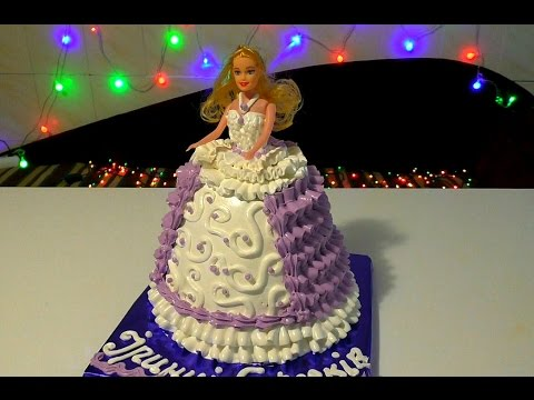 Как сделать торт куклу  видео 147