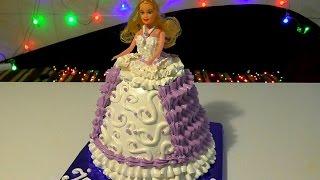 Торт Кукла Барби Как сделать торт куклу Торты для девочек  Barbie Doll Cake(Торт Кукла Барби Как сделать торт куклу. Торты для девочек . Кремовые торты. Украшение тортов. Barbie Doll Cake ..., 2016-12-09T22:38:36.000Z)