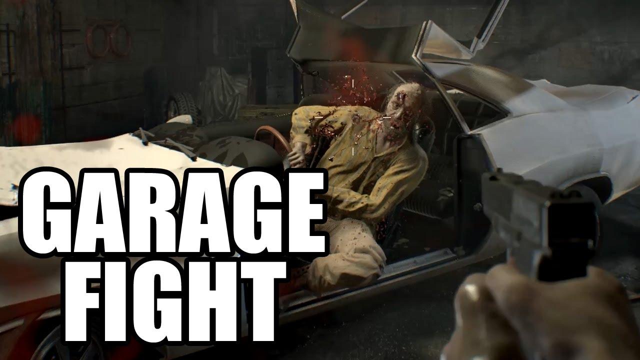 Resident Evil 7 Jack Baker Garage Boss Fight Youtube