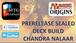 Magic Origins Sealed Deck Building - Chandra Nalaar - Red