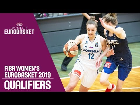 Slovenia v France - Full Game - FIBA Women's EuroBasket 2019 Qualifiers