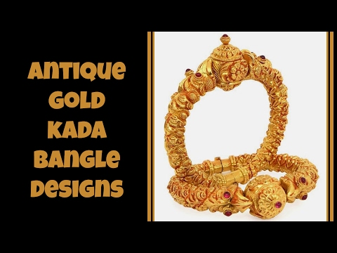 Antique Gold Kada Bangle Designs