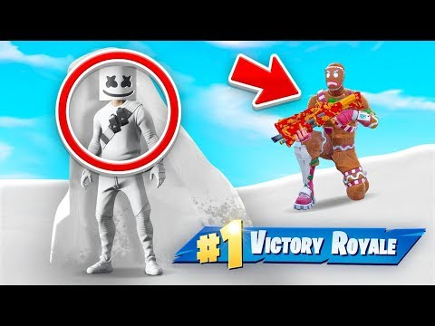 CAMOFLAGED MARSHMELLO CHALLENGE In Fortnite!