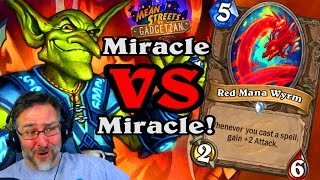 New Miracle Red Mana Wyrm ~ Mean Streets of Gadgetzan ~ Hearthstone Heroes of Warcraft