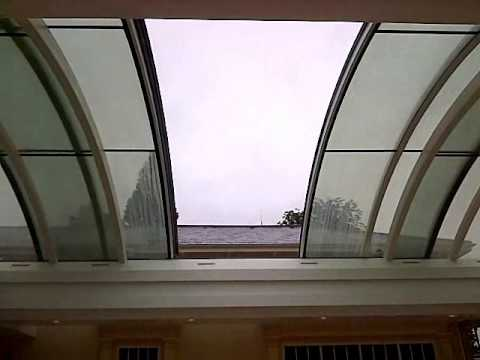 Curved Sliding Glass Roof By Cantifix Youtube
