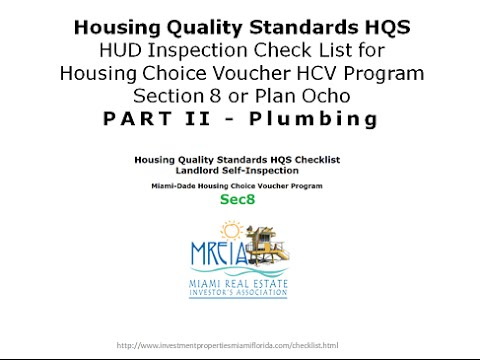 Section 8 Hqs Checklist Video Part Ii