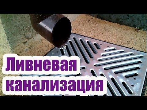 Как сделать ливневую канализацию вокруг дома