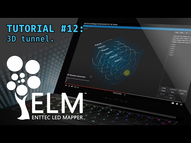 ENTTEC LED Mapper (ELM) tutorial #12: 3D Tunnel