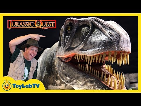 Download Youtube: Giant Dinosaurs at Jurassic Quest! Life Size Dinosaur Family Fun Event with Activities for Kids