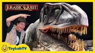 connectYoutube - Giant Dinosaurs at Jurassic Quest! Life Size Dinosaur Family Fun Event with Activities for Kids
