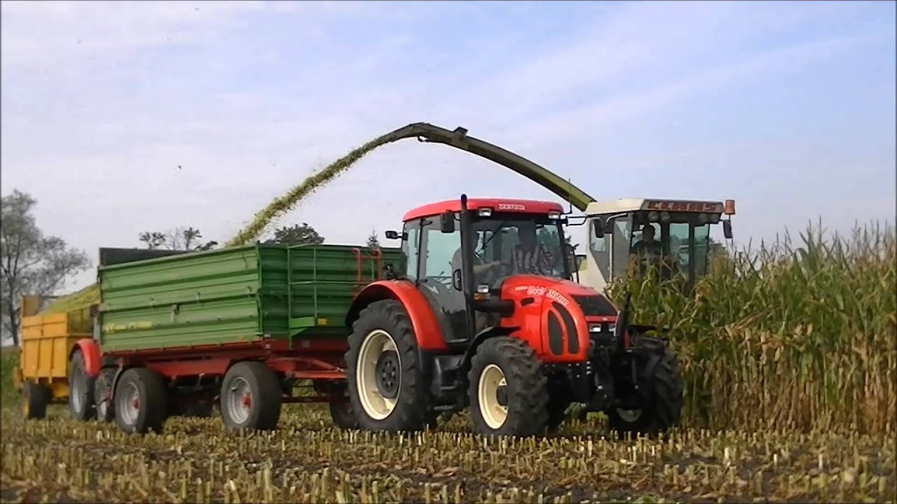 Akcja Kukurydzy 2014 [John Deere 6140R Zetor Forterra 115 ,105 , New Holland ]