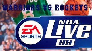 NBA Live 99 (1998) - PC - Warriors vs Rockets
