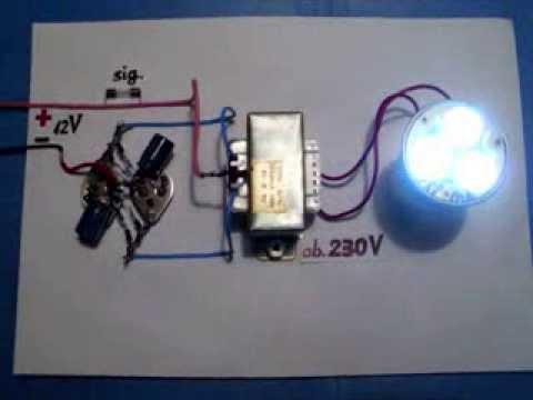 Power Inverter 12V to 230V, 220V, 120V, NEW circuit diagram, very easy, homemade, one unit.
