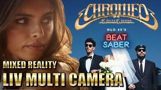 Beat Saber   Old 45's - Cromeo   Expert+   Mixed Reality