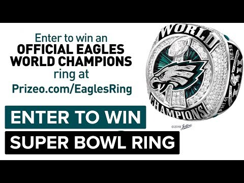 Enter to Win a Philadelphia Eagles World Championship Ring | Super Bowl Sweepstakes