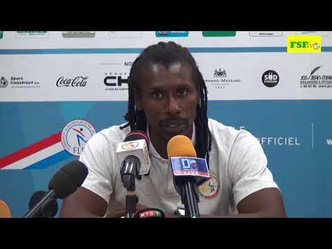 Conférence de presse d'après  match du Sélectionneur  national M. Aliou Cissé. Luxembourg vs Sénégal