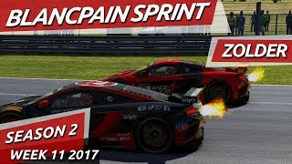 Starting from the back! Blancpain Sprint @ Zolder iRacing