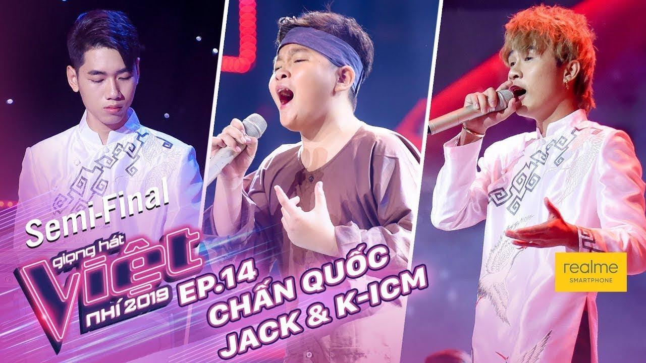 Sóng Gió - Chấn Quốc ft Jack & K-ICM | Tập 14 - Bán Kết | The Voice Kids - Giọng Hát Việt Nhí 2019